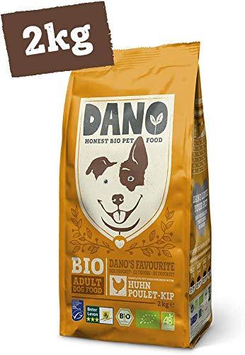 DANO Biologisch Hondenvoer Droog 4 x 2kg - Brokken met Kip, MSC-Haring, Erwten en Baobab - Volledig Voer voor Volwassen Honden