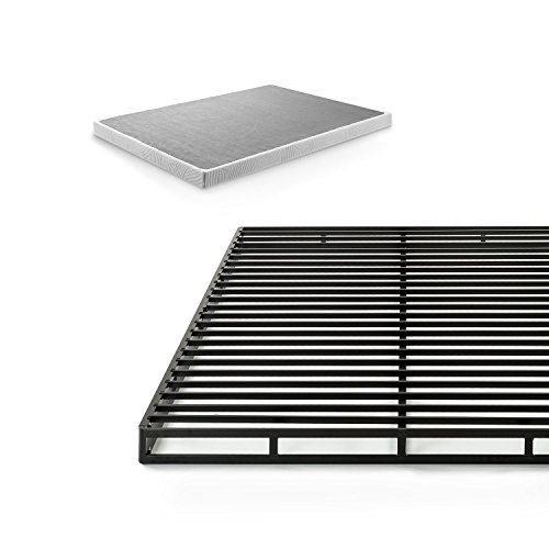 Zinus Victor 4 Inch Quick Lock Box Spring / Mattress Foundation / Built-to-Last Metal Structure / Low Profile / Easy Assembly, Full