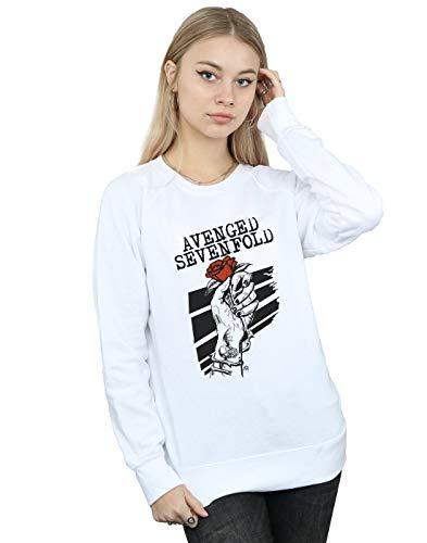 Absolute Cult Avenged Sevenfold Damen Rose Hand Sweatshirt Weiß XX-Large