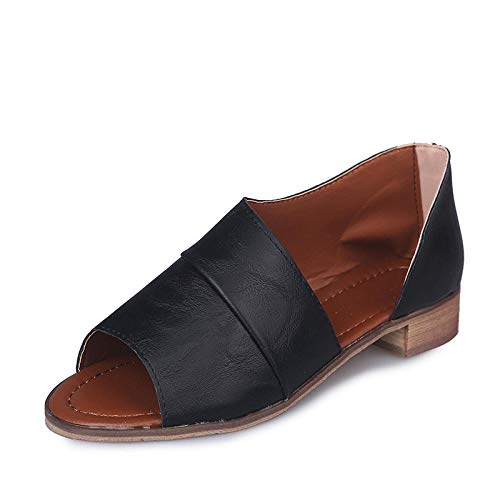 CCSSWW Suela De Espuma Suave Zapatos,Cientos de Sandalias cómodas Huecas Bajas-Negro_42,Ideal para Ducha,Playa,SPA Zapatillas