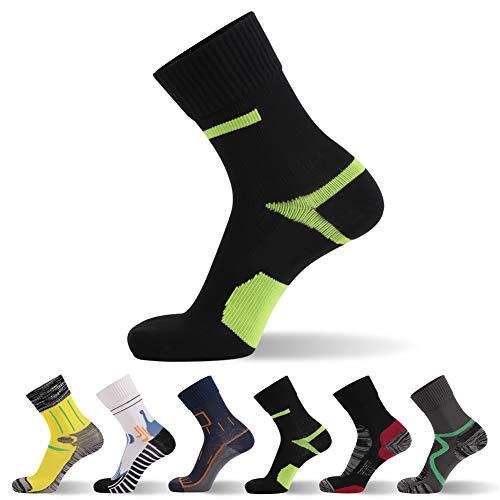 RANDY SUN Not Waterproof But Windproof Socks, [SGS Certified] Unisex Mid Calf Sport Climbing Hiking Cycling Running Socks 1 Pair L
