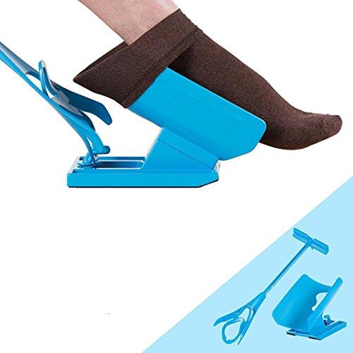 Harrystore Easy-Off Sock Doffer Dispositif pour enfiler les chaussettes, Flexible et simple d'utilisation, Appareil pour handicapés, Pas de douleur, permet de ne pas se pencher
