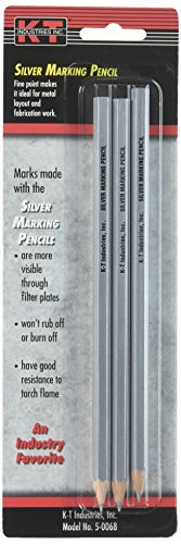 K-T Industries 5-0068 Silver Marking Pencil (3 Pack)