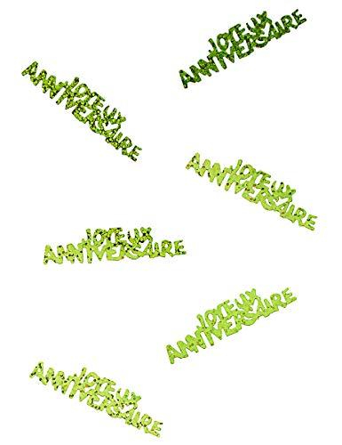 Confettis Joyeux Anniversaire Vert - Vert - Taille Unique