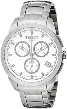Tissot T-Classic Quartz Titanium White Dial Chronograph Men's Watch