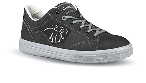 U.POWER Zapato de seguridad EN 20345 ESD S3 SRC Amazon Size 45 Forro de cuero negro