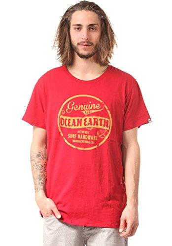 Ocean & Earth Camiseta para Hombre Trademark Regular tee, Hombre, Camiseta, CMTS05113, Rojo, Extra-Large