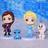 4 Unids / Set Frozen 2 Snow Queen Elsa Anna Figuras De Acción Olaf Kristoff Sven Anime Dolls Figurin...