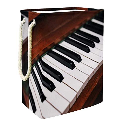 Almacenamiento Plegable Cesto de la Ropa Cesto Plegable Tecla de Piano Musical Cesto de Ropa Impermeable para baño, Dormitorio, hogar, Hotel 60L