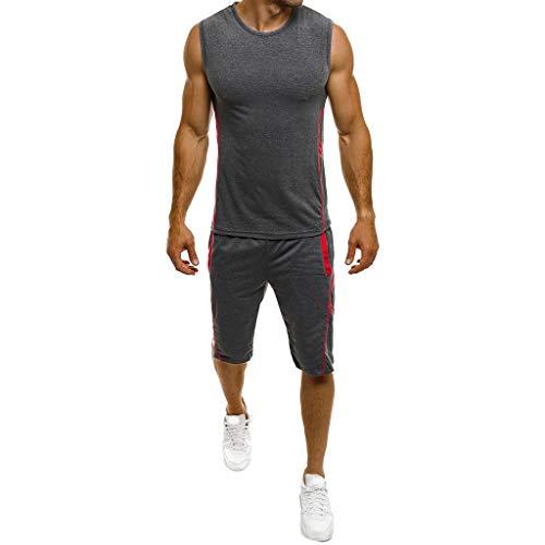Momoxi 2020 Sommermode Sporthosedünne ärmellose Tank Top T-Shirt Shorts Hosenanzug Top Bluse Ladeneröffnung bietet einen ermäßigten Preis über Prozentsatz 60 70 80
