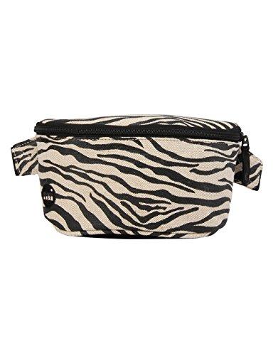Mi-Pac Bum Bag Premium Canvas Zebra Sac Banane Sport, 24 cm, Noir/Blanc