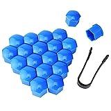 Tapa de tuerca de rueda Nuevo 20 piezas Cubiertas de cubo de rueda de neumático de 19 mm Cubiertas de tuercas de rueda Tapas de protección Tapas de tornillo de rueda de neumático Tapas de tuerca Prote