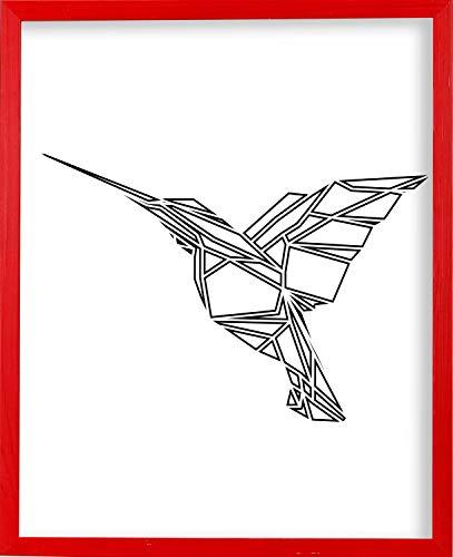 Marco de fotos grande Postergaleria | 50x70 | Rojo | Madera |...