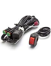 Moto Foco Luz Antiniebla Arnés Cableado Kit con Interruptor de Encendido/Apagado para Bicicleta Trike Quad Atv