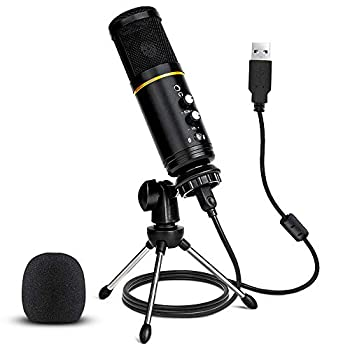 USB Microphone,Stilnend Metal Condenser Recording Microphone for Laptop MAC or Windows Professional Plug&Play Studio Microphone for Gaming Podcast,Chatting Voice Overs YouTube Videos& Streaming