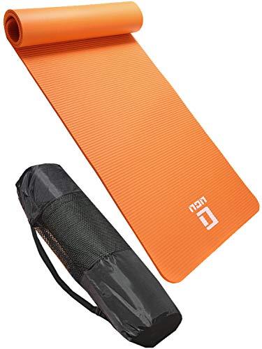 ヨガマット 10mm 【 トレーニングマット ストレッチマット としても 】 LICLI 滑り止め 厚手 ヨガマット 「 筋トレ エクササイズ ヨガ 用 大きい マット 」「 ストラップ ケース 付き 」11カラー