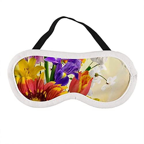 Augenmaske Blume Violett Sonnenblume Augenmaske zum Schlafen Blume Violett Sonnenblume Schlafmaske Geschenk für Ihn Schlafmaske