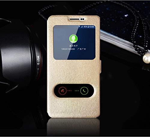 RZL Teléfono móvil Fundas para Samsung Respuesta J7 Nxt J701F Caso Vista Rápida Ventana del tirón del Cuero Teléfono de Nuevo Caso J7Nxt J701 Cubierta para Samsung Galaxy Neo J7 (Color : Rose)