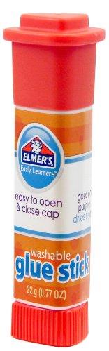 Elmer's Early Learners Washable Glue Sticks, 22 grams, Disappearing Purple Glue, Box of 6 Glue...