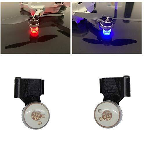 Juego de 2 luces LED para drones, luz de flash, señal de navegación nocturna, lámpara de cuadricóptero, mini luz de vuelo de noche, luz de navegación, luz LED para DJI Mavic Mini Drone Accesorios