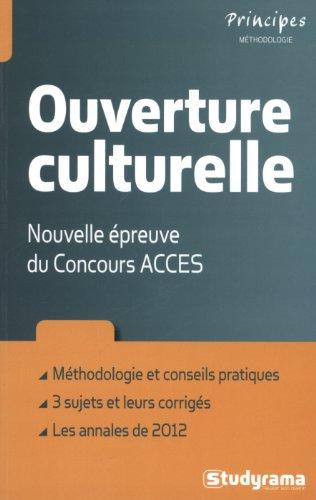 Ouverture culturelle : Nouvelle épreuve du Concours ACCES