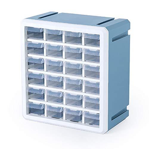 Caja de Almacenamiento de cajones para el hogar, Caja de Almacenamiento de Juguetes cosméticos, Caja de Almacenamiento de Joyas para Ropa, 10.8x6.3x11.8 Pulgadas,Azul,10.8x6.3x11.8 in