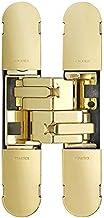 Carlisle Brass CI001129OTT00 Euro Spec Ceam 3D verborgen scharnier, gepolijst messing, 100 mm x 22 mm