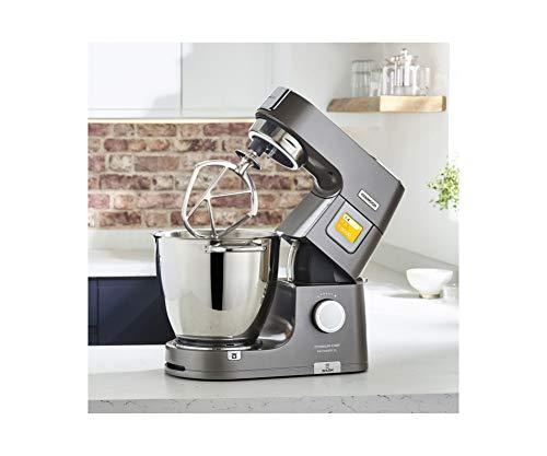 Kenwood Titanium Chef Patissier XL KWL90.034SI – Küchenmaschine mit integrierter Waage & 7 L Rührschüssel mit Wärmefunktion, 1400 Watt, inkl. 4-teiligem Patisserie-Set, silber - 2
