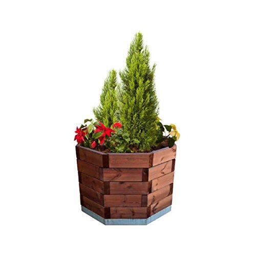 estrucmader – Jardin octogonal pour Arbres et Palmiers, de pin Couleur Cerisier