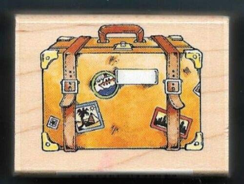 ShopForAllYou Stamping & Embossing Luggage CASE Travel Stickers Bag Steam Trunk Wood Mount Rubber Hobby