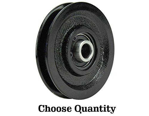 Lowest Prices! Garage Door Pulley 3 Inch Heavy Duty Cast Iron Pulley with Bearing Garage Door Opener...