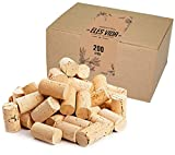 Corchos de Botella como tapones de vino para decorar, embellecer, artesanía - de naturaleza como suministros de manualidades para niños, suministros de pasatiempos para adultos 24mmx45mm (200 claro)