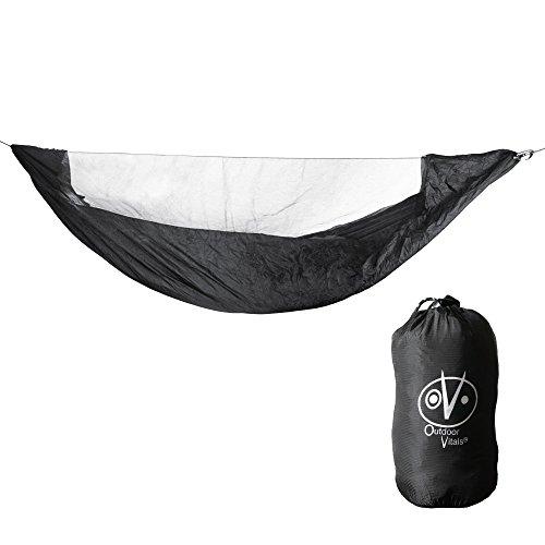 Outdoor Vitals Ultralight Hammock Bug Net with Underside and Side Splash Protecton (Black, 10 Foot)