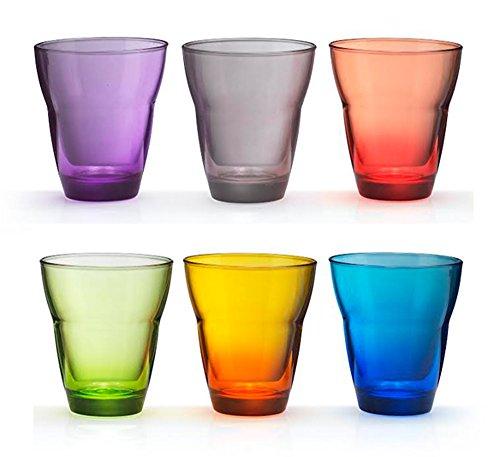 Kaleidos - Set 6 bicchieri Acqua in vetro soffiato MONDO MULTICOLOR