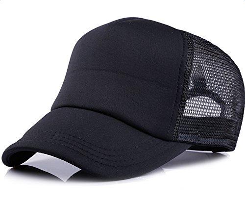 Leisial Mujer Casual Gorra de Béisbol de Viajes Hats Hip-Hop Sombrero Sol al Aire Libre Tenis Deporte Golf Verano para Unisex Hombre Mujer,Negro (#4)