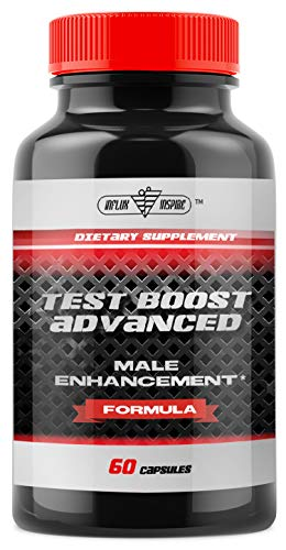 Testosterone Booster for Men - Male Enhancing Pills with Horny Goat Weed, Tribulus Terrestris, Tongkat Ali, L-Arginine, Ginseng - Test Boost Nitric Oxide Libido Booster - Muscle Builder - 60 Capsules