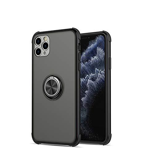 GOBY Coque iPhone 11 pro max Slim Fit TPU Soft Support de Bague Silicone Gel Anti Mince Placage Bumper Housse Lustre Métal 360° Bague Support Téléphone Voiture Etui (4)