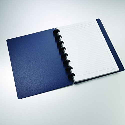 Staples Arc Customizable Durable Poly Notebook System, Navy, 8.5' x 5.5'