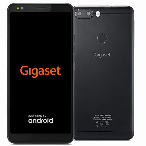 Gigaset GS370 Plus Smartphone ohne Vertrag (14,47 cm (5,7 Zoll HD+) Display, 64GB Speicher, Android 8.1 Update) jet black