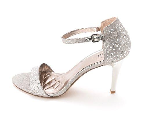 Alfani Pyrra Women US 7 Silver Sandals