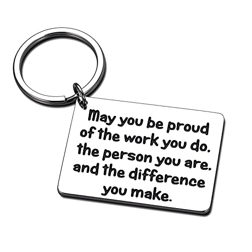 Coworker Leaving Colleague Farewell Boss Keychain Gifts for Friend Going Away Goodbye Inspirational Appreciation Christmas Retirement Gift for Volunteer Employee Social Worker Birthday Women Men