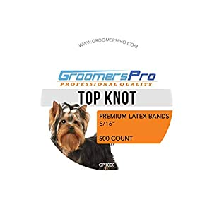 Grooming Bands for Top Knots & Creating Specialty Bows for Dogs | 500 Count Premium Latex Rubber Bands for Dog Grooming Hair Styling | Best Elastic Band for Dogs, Malteses, Shih TzusPuppies, & Yorkies