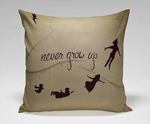 OF Narnia Maps Peter Pan Poste Decoration Pillow Case Cushion Cover Kissenbezüge (40cmx40cm)