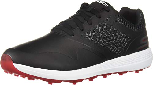 Skechers mens Max Golf Shoe, Black/Red, 10 Wide US