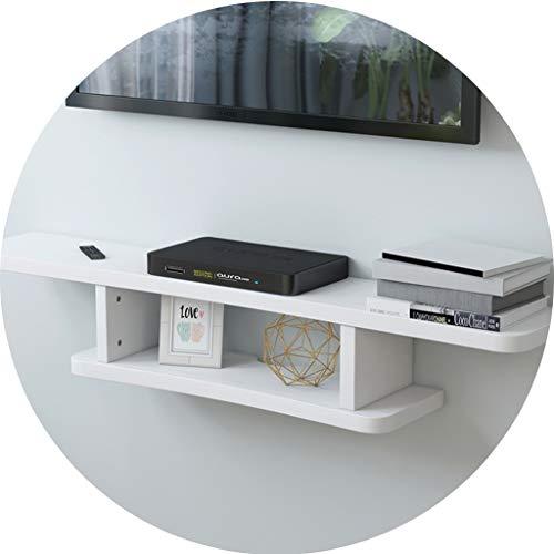 Ablagegestelle Router Regal Wohnzimmer Hängenden Speicher Set-Top-Box Regal Im Schlafzimmer Wand-TV Schrank Leicht Zu Reinigen (Color : Weiß, Size : 120 * 22 * 15cm)