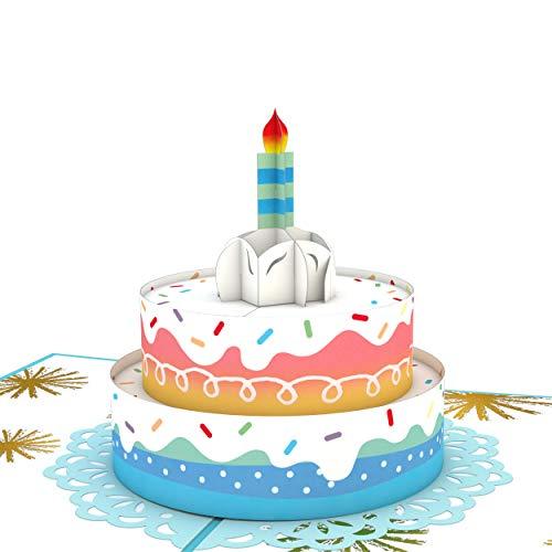 Lovepop Rainbow Birthday Cake Pop Up Card - 3D Card, Birthday Card, Birthday Cake Card, 3D Birthday Greeting Card, Birthday Pop Up Card, 3D Birthday Card, Birthday Greeting Cards