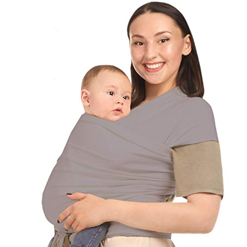 Baby Wrap Carrier Sling - Premium Cotton - Ergonomic Wraps for Toddler, Newborn, Infant, Child - Front, Hip and Kangaroo Holder – Versatile Wearing Slings for Men and Women