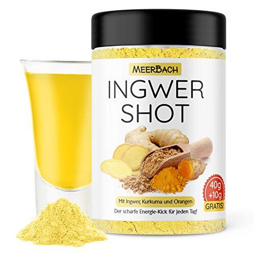 Fruchtig scharfer Ingwer Shot mit Vitamin C und Zink • veganer Ingwer und Kurkuma Shot zum Anrühren von 35 Shots • Premiumqualität aus Deutschland!