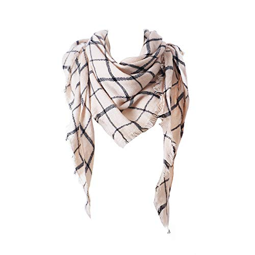 Price comparison product image Fashion Scarves Womens Winter Faux Cashmere Christmas Plaid Long Scarf Afterso