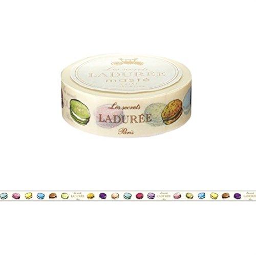 Maste Mark S & Les Secret Laduree Limited Edition Washi tape multicolor macaroon Paris modello Japan Edition